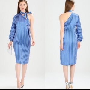 Banana Republic one shoulder striped dress